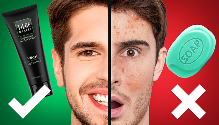 پاکسازی پوست مردانه