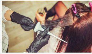 صاف کردن مو با کراتینه