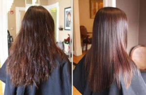 کراتین موی رنگ شده